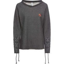 Bluza ze sznurowaniem bonprix szary melanż. Bluzy damskie marki KALENJI. Za 99.99 zł.