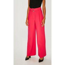Answear - Spodnie. Szare spodnie materiałowe damskie ANSWEAR, z haftami, z elastanu. Za 169.90 zł.