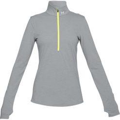 Koszulka w kolorze szarym. T-shirty damskie Under Armour, z materiału, ze stójką, z długim rękawem. W wyprzedaży za 134.95 zł.