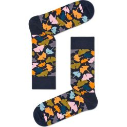Happy Socks - Skarpetki Ginko. Szare skarpety damskie Happy Socks, z bawełny. Za 39.90 zł.