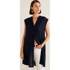 Mango - Koszula Confi. Szare koszule damskie Mango, z krótkim rękawem. Za 119.90 zł.