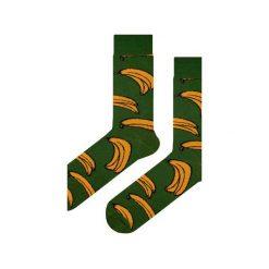 Skarpety zielone w banany. Zielone skarpety męskie Em men's accessories, z bawełny. Za 29.99 zł.