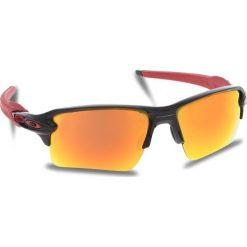 Okulary przeciwsłoneczne OAKLEY - Flak 2.0 Xl OO9188-8059 Polished Black/Prizm Ruby. Czarne okulary przeciwsłoneczne męskie Oakley, z tworzywa sztucznego. W wyprzedaży za 549.00 zł.