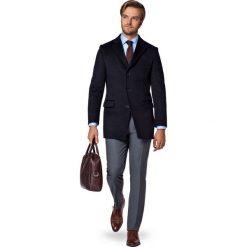 Płaszcz Granatowy Jarred. Niebieskie płaszcze męskie LANCERTO, na jesień, z bawełny, eleganckie. W wyprzedaży za 499.90 zł.