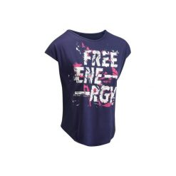 Koszulka fitness cardio 120. Niebieskie t-shirty damskie DOMYOS. W wyprzedaży za 24.99 zł.