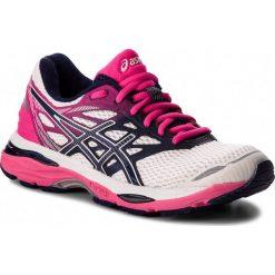 Buty ASICS - Gel-Cumulus 18 T6C8N White/Indigo Blue/Hot Pink 0149. Białe obuwie sportowe damskie Asics, z materiału. W wyprzedaży za 279.00 zł.