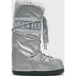 Moon Boot - Śniegowce Glance. Szare śniegowce i trapery damskie Moon Boot, z materiału. Za 499.90 zł.