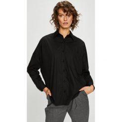 Pinko - Koszula. Czarne koszule damskie Pinko, z bawełny, klasyczne, z klasycznym kołnierzykiem, z długim rękawem. Za 899.90 zł.