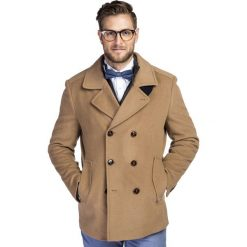 Płaszcz SAMUELE PSKS000031. Brązowe płaszcze męskie Giacomo Conti, na jesień, z kaszmiru, eleganckie. Za 1,199.00 zł.
