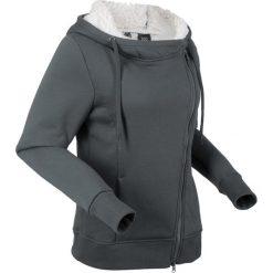 Bluza rozpinana z polaru baranka, długi rękaw bonprix antracytowy. Bluzy damskie marki KALENJI. Za 149.99 zł.