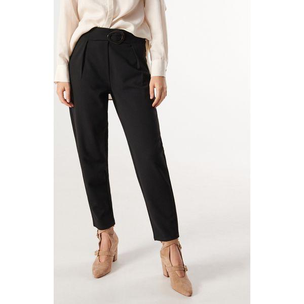 Spodnie z szerokim paskiem Czarny