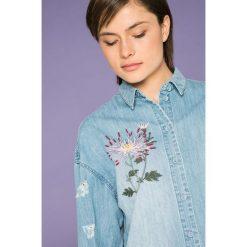 Only - Koszula Flora. Szare koszule damskie Only, z haftami, z bawełny, casualowe, z klasycznym kołnierzykiem, z długim rękawem. W wyprzedaży za 119.90 zł.