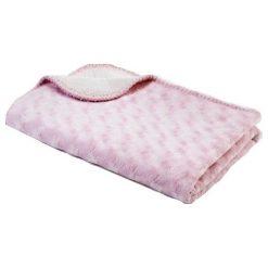 Babydan Dwustronny Koc Polarowy 75X100 Cm, Pink. Różowe kocyki dla dzieci Babydan, z polaru. Za 69.00 zł.