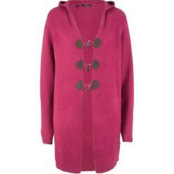 Długi sweter rozpinany z kapturem bonprix jeżynowy. Kardigany damskie marki bonprix. Za 129.99 zł.