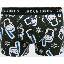 Jack & Jones - Bokserki. Czarne bokserki męskie Jack & Jones, z bawełny. Za 59.90 zł.