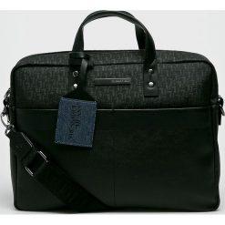 Trussardi Jeans - Torba. Czarne torby na laptopa męskie TRUSSARDI JEANS, w paski, z jeansu. Za 639.90 zł.