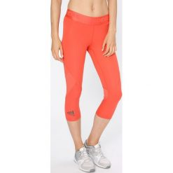 Adidas Performance - Legginsy. Różowe legginsy damskie adidas Performance, z dzianiny. W wyprzedaży za 129.90 zł.