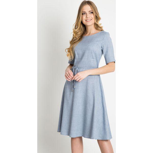 a2a1e619bb Niebieska rozkloszowana sukienka QUIOSQUE - Sukienki damskie marki ...