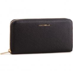 Duży Portfel Damski COCCINELLE - DW5 Metallic Soft E2 DW5 11 04 01 Noir 001. Czarne portfele damskie Coccinelle, ze skóry. Za 599.90 zł.