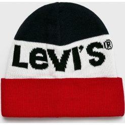 Levi's - Czapka. Szare czapki i kapelusze damskie Levi's. Za 99.90 zł.