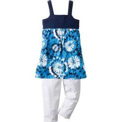 Sukienka + legginsy 3/4 (2 części) bonprix ciemnoniebiesko-biały z nadrukiem. Legginsy dla dziewczynek marki bonprix. Za 27.99 zł.