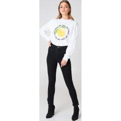 Rut&Circle Bluza Lemon - White. Białe bluzy damskie Rut&Circle, z nadrukiem. Za 121.95 zł.