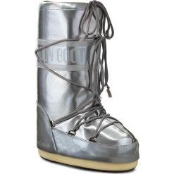 Śniegowce MOON BOOT - Vinile Met. 14021400004 Argento D. Szare kozaki damskie Moon Boot, ze skóry ekologicznej. Za 479.00 zł.