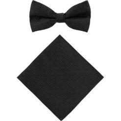 Mucha z poszetką MUC0003142. Czarne krawaty i muchy Giacomo Conti, eleganckie. Za 129.00 zł.