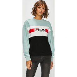Fila - Bluza Angela Crew. Szare bluzy damskie Fila, z nadrukiem, z bawełny. Za 299.90 zł.