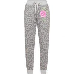 Spodnie dresowe bonprix szary melanż - leo. Spodnie dresowe damskie marki bonprix. Za 99.99 zł.