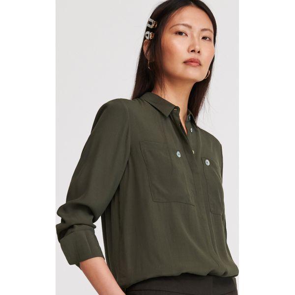 Zielone koszule damskie Reserved Kolekcja zima 2020  8IJ7o