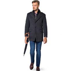 Płaszcz Szary Teofilo. Szare płaszcze męskie LANCERTO, na jesień, z bawełny. Za 799.90 zł.