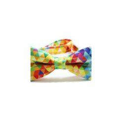 Mucha Colorful. Szare krawaty i muchy Edyta kleist, w kolorowe wzory, z tkaniny, eleganckie. Za 99.00 zł.