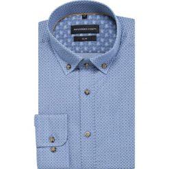 Koszula SIMONE slim KDNS000420. Niebieskie koszule męskie Giacomo Conti, z bawełny, button down, z długim rękawem. Za 169.00 zł.