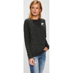 Nike Sportswear - Bluzka. Czarne bluzki damskie Nike Sportswear, z bawełny, z okrągłym kołnierzem. Za 199.90 zł.