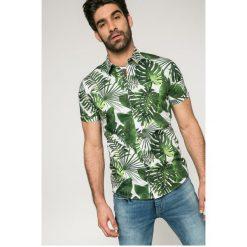 Medicine - Koszula City Jungle. Szare koszule męskie MEDICINE, z bawełny, z klasycznym kołnierzykiem, z krótkim rękawem. W wyprzedaży za 39.90 zł.