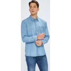 Tommy Jeans - Koszula. Szare koszule męskie Tommy Jeans, z jeansu, z długim rękawem. W wyprzedaży za 279.90 zł.