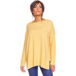 """Sweter """"Kymie"""" w kolorze żółtym. Żółte swetry damskie So Cachemire, z kaszmiru, z okrągłym kołnierzem. W wyprzedaży za 173.95 zł."""