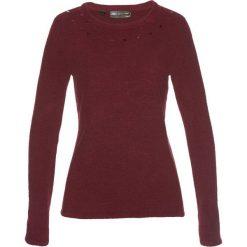 Sweter bonprix czerwony klonowy. Swetry damskie marki bonprix. Za 59.99 zł.