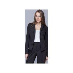 Klasyczny elegancki żakiet czarny  H020. Niebieskie żakiety damskie Harmony, biznesowe. Za 199.00 zł.