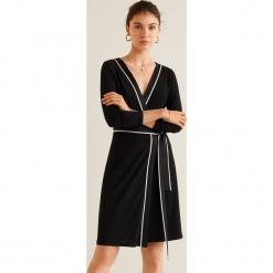 Mango - Sukienka Print. Szare sukienki damskie Mango, z aplikacjami, z dzianiny, casualowe, z długim rękawem. Za 139.90 zł.