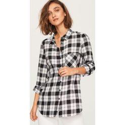 Koszula w kratę - Czarny. Czarne koszule damskie Reserved. Za 49.99 zł.