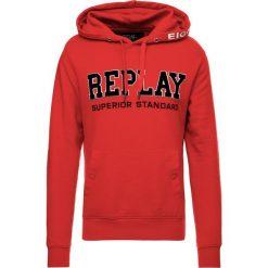 Replay Bluza z kapturem ruby red. Bluzy męskie Replay, z bawełny. Za 369.00 zł.