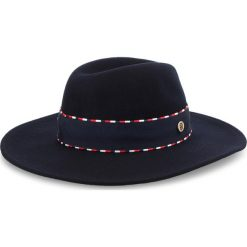 Kapelusz TOMMY HILFIGER - Corp Detail Fedora AW0AW06017 901. Niebieskie czapki i kapelusze damskie Tommy Hilfiger, z materiału. Za 299.00 zł.