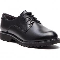 Oxfordy TAMARIS - 1-23725-21 Black Leather 003. Czarne półbuty damskie Tamaris, ze skóry. Za 289.90 zł.