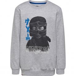 Bluza w kolorze szarym. Szare bluzy dla chłopców marki Lego Wear Fashion, z nadrukiem, z bawełny. W wyprzedaży za 45.95 zł.
