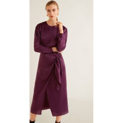 Mango - Sukienka Daiana. Szare sukienki damskie Mango, z materiału, casualowe, z okrągłym kołnierzem, z długim rękawem. Za 229.90 zł.