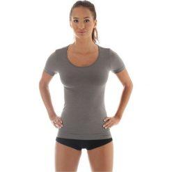 Brubeck Koszulka damska z krótkim rękawem Comfort Wool szara r. M (SS11020). Bluzki damskie Brubeck, z krótkim rękawem. Za 129.24 zł.