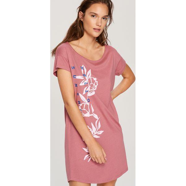 5b63b9f89e6ccb Koszula nocna z kwiatowym motywem - Różowy - Koszule nocne damskie Reserved.  W wyprzedaży za 9.99 zł. - Koszule nocne damskie - Bielizna nocna damska ...