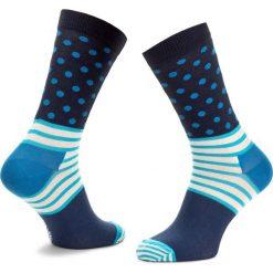 Skarpety Wysokie Unisex HAPPY SOCKS - SD01-066  Granatowy. Niebieskie skarpety męskie Happy Socks, z bawełny. Za 34.90 zł.